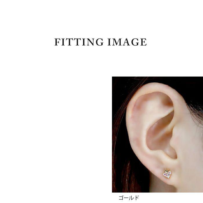 軟骨ピアス16Gボディピアスハートティアラジュエルキュービックジルコニア16ゲージピアスストレートバーベル片耳用サージカルステンレス耳