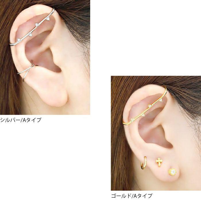 イヤーカフボディピアスジュエルピアスインダストリアル片耳用サージカルステンレス耳